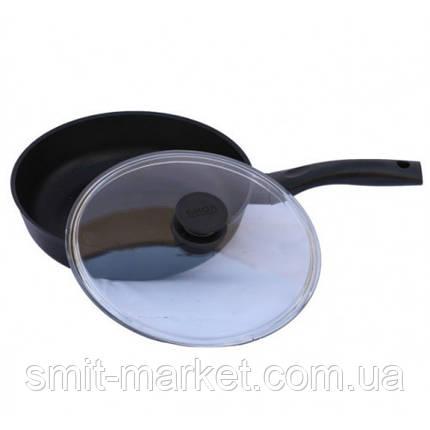"""Сковорода """"Класик"""" антипригарна з кришкою 20 см Біол (2007ПС), фото 2"""