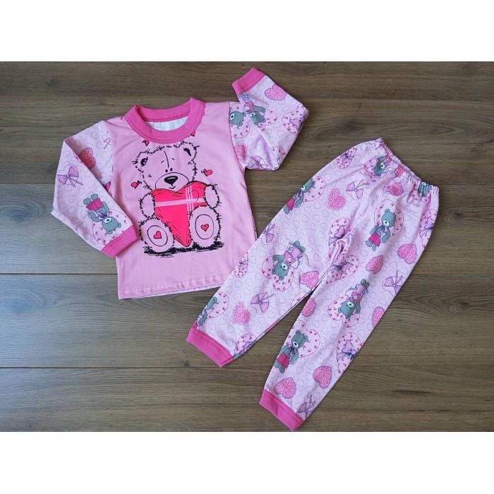 67a1b9a20297 Детская байковая пижама для девочки с рисунком мишек 30-38 р за 215 ...
