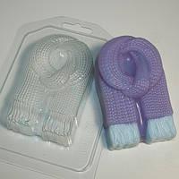 Пластиковая форма для мыла Шарф вязаный
