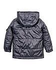 Детская куртка Пусик на мальчика 90-110 см (1-2, 2-3, 3-4 года) весна-осень (Серая), фото 3