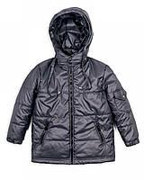 Детская куртка Пусик на мальчика 1-2, 2-3, 3-4, 4-5 лет. весна-осень (Серая)