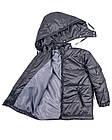 Детская куртка Пусик на мальчика 90-110 см (1-2, 2-3, 3-4 года) весна-осень (Серая), фото 4