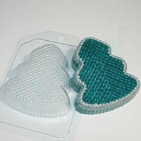 Пластиковая форма для мыла Ёлка вязаная (БЕЗ ПУГОВИЦ)