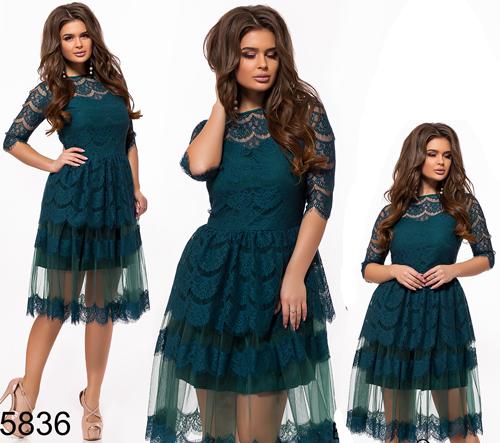 542e2f7d47a Купить Вечернее платье с завышенной талией цвет бутылка 825836 ...