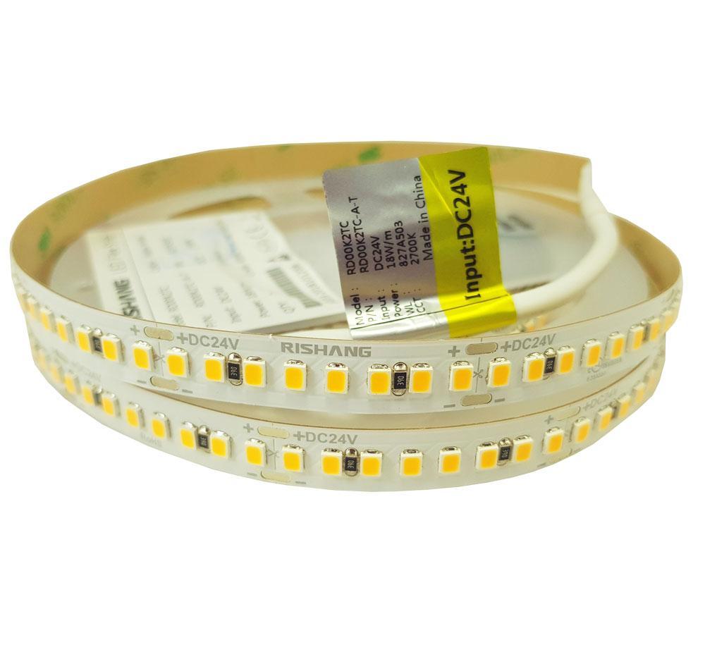 Светодиодная лента 2835-192-IP20-WW-10-24-80 (2700K)