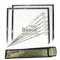 Мангал компактный (рамка) с 6 шампурами Mousson RINO 6IBS