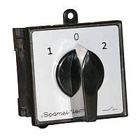 Перемикач кулачковий 2-полюсний 40А (1-0-2) Spamel SK40-2.8338/S10