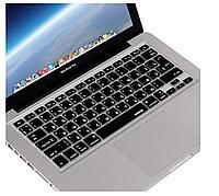 """Apple MacBook Air Pro 13/15/17"""" Накладка Защита силикон клавиша ENTER верт./гориз. раскладка UK черный"""