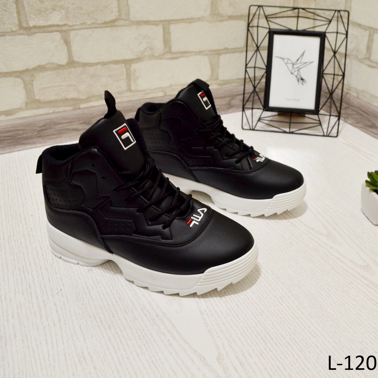 b77176c9b Кроссовки высокие зимние, черные на белой подошве, женская зимняя обувь -  Интернет-магазин