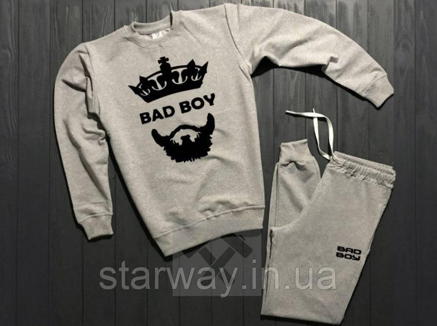 Трикотажный стильный костюм Bad Boy logo