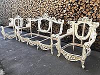 Мягкая часть в стиле барокко, диван и два кресла, каркас