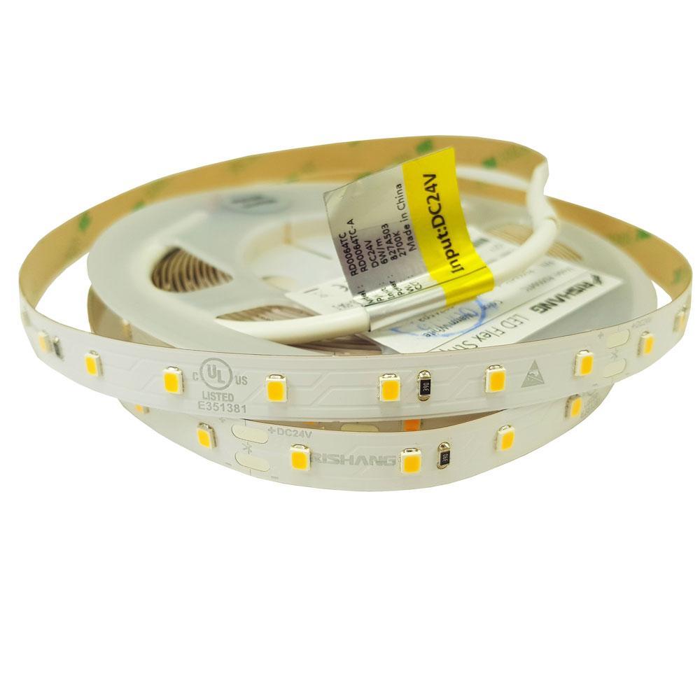 Светодиодная лента 2835-64-IP20-WW-10-24-80 (2700K)