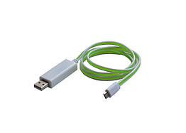 Светящийся кабель LED Cable USB runing line