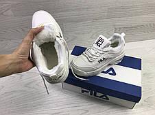 Зимние женские кроссовки Fila Disruptor Yalor,белые, фото 3