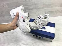 Зимние женские кроссовки Fila Disruptor Yalor,белые, фото 2