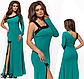 Вечернее платье длинное с пайетками бежевый 825853, фото 2