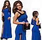 Вечернее платье длинное с пайетками бежевый 825853, фото 4
