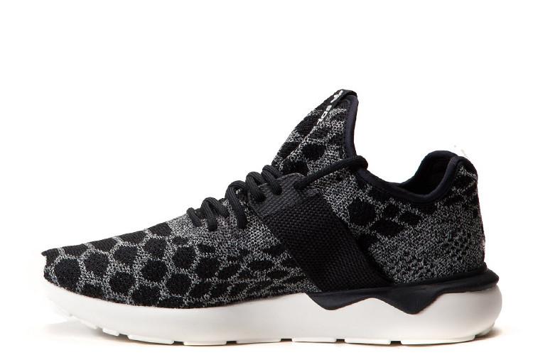 Оригинальные мужские кроссовки Adidas Tubular Runner Primeknit Stone Black