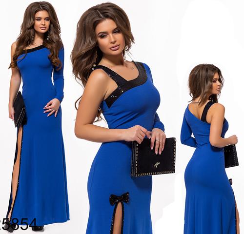 Вечернее платье с открытой спинкой элекрик 825854