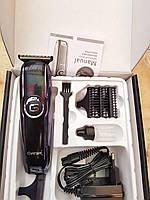Электрическая машинка Gemei 807 имеет 4 дополнительные насадки для установки оставляемой длины волос. Машинка