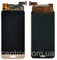 Дисплей (экран) для Samsung J320H Galaxy J3 (2016) + тачскрин, золотистый, оригинал