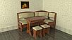 Кухонный уголок со столом и табуретами Софи 2 дерево, фото 5