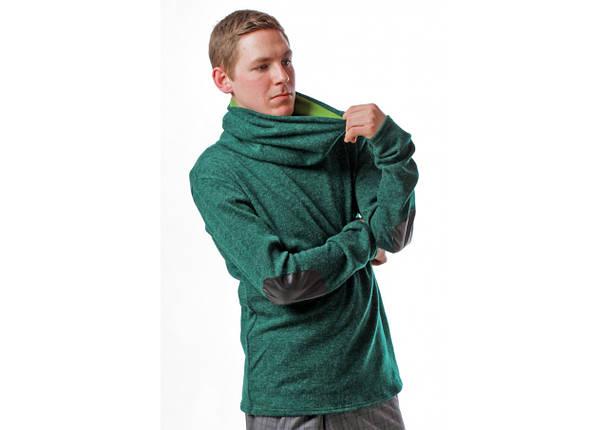 Свитер с горлом зеленый, фото 2