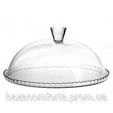 Блюдо Patisserie Ø32см с бортом и со стеклянной крышкой-колпаком (95198), фото 3