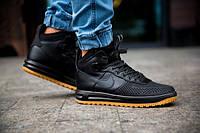Кроссовки зимние мужские в стиле Nike Lunar Force 1 Duckboot черные