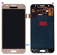Дисплей (экран) для Samsung J500H Galaxy J5 (2015) + тачскрин, золотистый, оригинал