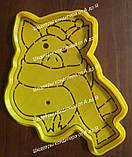 Набір Свинка в шарфику №2 - пластикова вирубка + трафарет, фото 2