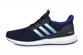 Оригинальные мужские кроссовки Adidas Ultra Boost Blue White | Адидас ультра буст синие