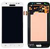 Дисплей (экран) для Samsung J500H, Galaxy J5 (2015) + тачскрин, белый, оригинал