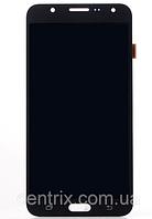Дисплей (экран) для Samsung J700H, DS Galaxy J7 (2015), J700F + тачскрин, черный, оригинал , фото 1