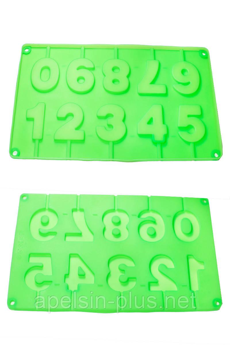 Силиконовая форма для изомальта и шоколада Цифры  5 см 4 см