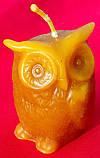"""Восковая свеча """"Сова классическая"""" из натурального пчелиного воска, фото 2"""