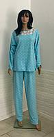 Женская байковая пижама для беременных с кружевом 50-58 р