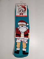 Новогодние носки женские  зимние махровые внутри хлопок Calze Vita