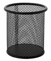 Стакан металлический круглый черный Lider