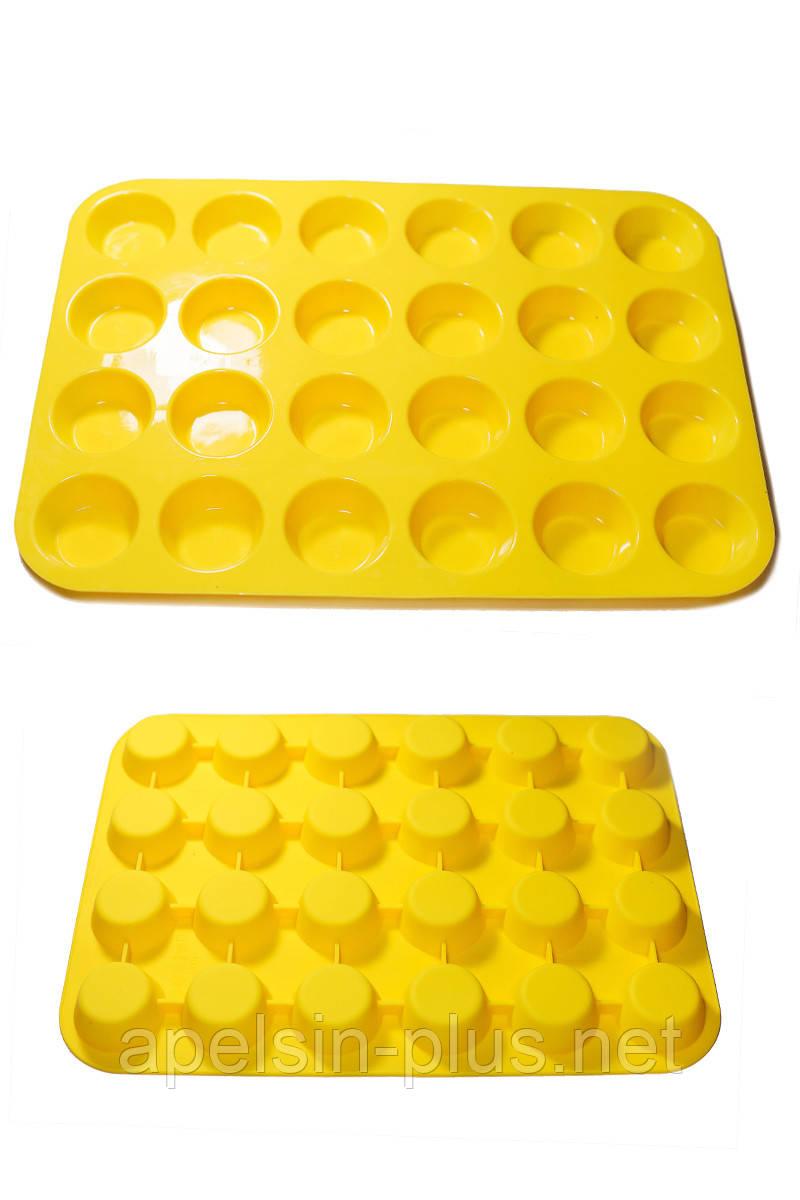 Силиконовая форма для выпечки Стаканчики высокие 24 ячейки
