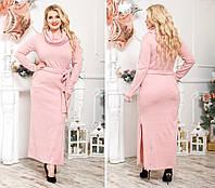 551503ec28f Длинное полномерное платье из качественной тёплой ангоры-Арктики с хомутом