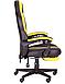 Геймерское кресло VR Racer Edge Throne черный/желтый, фото 3