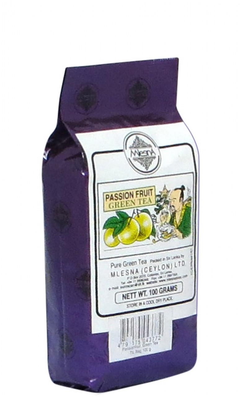 Зеленый чай Фрукт страсти (маракуйя), PASSION FRUIT GREEN TEA, Млесна (Mlesna) 100г.