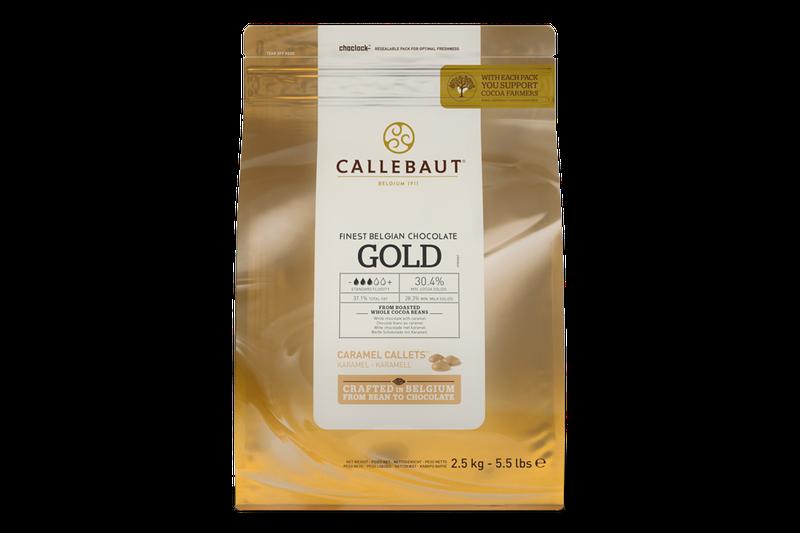 "Белый шоколад с карамелью ""GOLD"" 30.4 % какао, Callebaut"