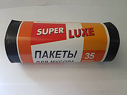 Мусорный пакет 50*60 см Super LUXe  35л/15 шт