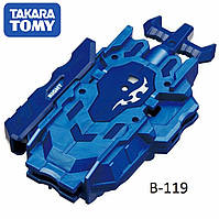 Двухсторонний ЗАПУСК BEYBLADE BURST B-119 Bay Launcher LR Blue Takara Tomy Оригинал