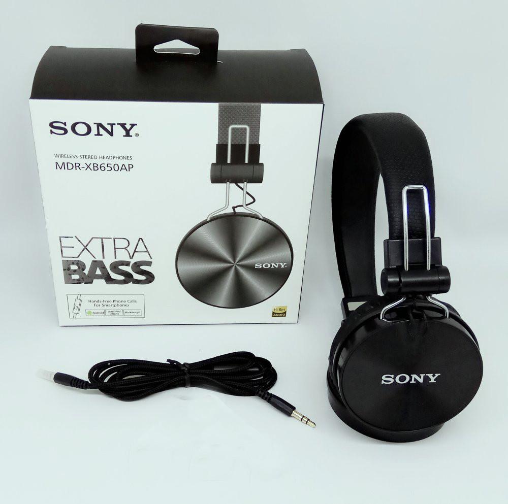 Наушники Sony MDR-XB650AP Black (Чёрные). Проводные наушники с микрофоном  EXTRA BASS 189357951db97