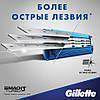 Gillette Mach3 Turbo 4 шт. в упаковке сменные кассеты для бритья, новый тип, оригинал, фото 5