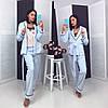 Женский домашний махровый костюм в расцветках. КС-2-1118, фото 9