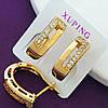 Стильные серьги женские позолота XР. Медицинское золото. Код:1219